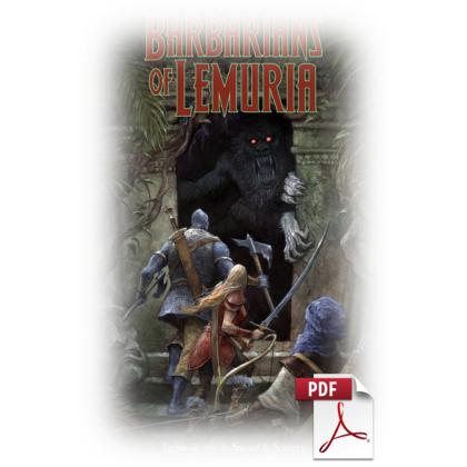 Barbarians of Lemuria - Jeu de rôle Edition Mythic en VF (livre format pdf)