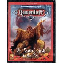 Ravenloft - RS1 Van Richten's Guide to the Lich (jeu de rôle AD&D 2ème édition en VO) 001