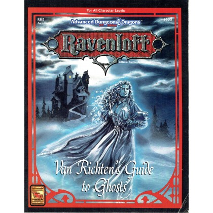 Ravenloft - RR5 Van Richten's Guide to Ghosts (jeu de rôle AD&D 2ème édition en VO) 001