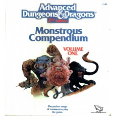 Monstrous Compendium - Volume One (Lot classeur + 3 Appendix pour jdr AD&D 2)