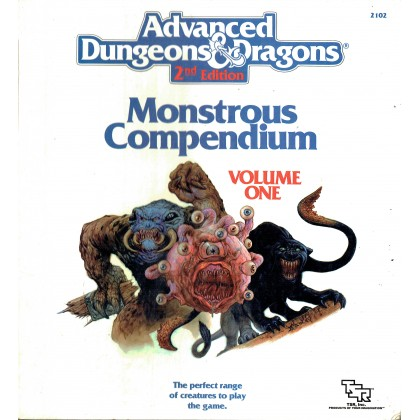 Monstrous Compendium - Volume One (Lot classeur + 3 Appendix pour jdr AD&D 2) L074