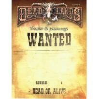Deadlands Reloaded - Dossier de Personnage (jdr Deuxième édition en VF) 001
