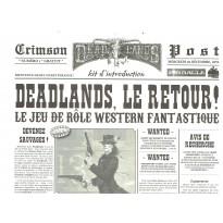 Crimson Post N° 1 - Kit d'introduction (jdr Deadlands Reloaded en VF) 001