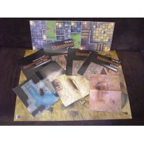 Lot de tuiles, cartes & plans (jdr Dungeons & Dragons 4 et autres)