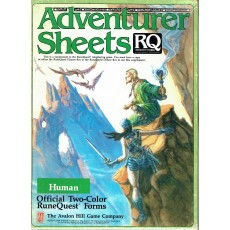 Adventurer Sheets - Human (rpg Runequest 3rd edition en VO)