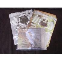 Insectopia - Lot carte en tissu & fiches de PJ (jdr Odonata Editions en VF) L091