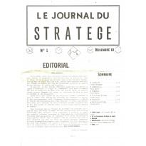 Le Journal du Stratège N° 1 (revue de jeux d'histoire & de wargames) 001