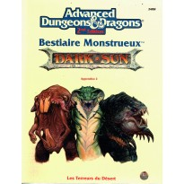 Bestiaire Monstrueux - Appendice 2 (jdr AD&D 2 Dark Sun en VF) 001