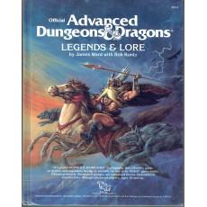 Legends & Lore (jdr AD&D 1ère édition en VO)