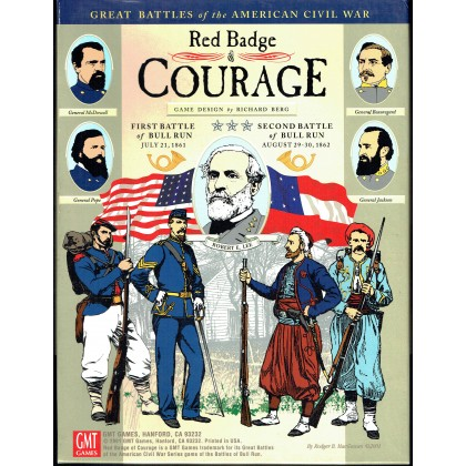 Red Badge of Courage - Battles of Bull Run 1861 & 1862 (wargame GMT en VO) 001