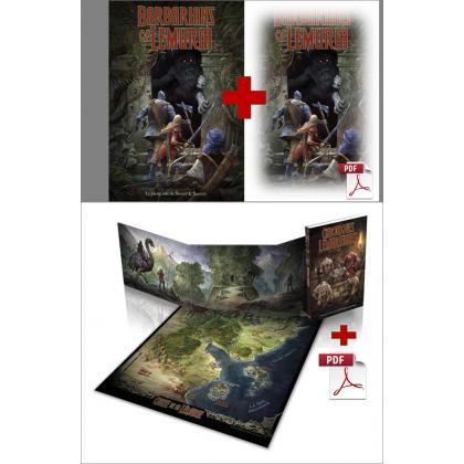 Pack Chroniques Lémuriennes + Livre de base + pdf (jdr Barbarians of Lemuria Mythic en VF) BOLCL