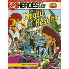Titans - Rigged Results (jdr DC Heroes RPG en VO)