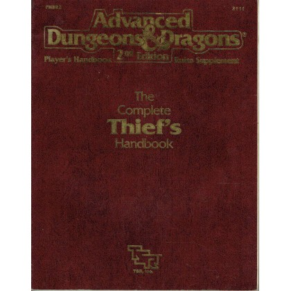The Complete Thief's Handbook (jdr AD&D 2ème édition VO) 003