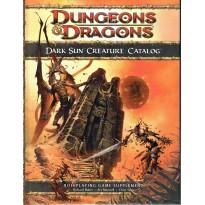 Dark Sun Creature Catalog (jdr Dungeons & Dragons 4 en VO) 002