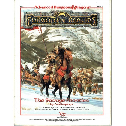 FR5 The Savage Frontier (jdr AD&D 1st edition - Forgotten Realms en VO) 002
