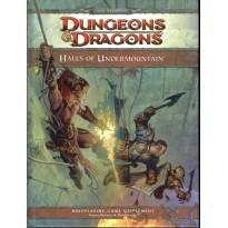 Halls of Undermountain (jdr Dungeons & Dragons 4 en VO) 001