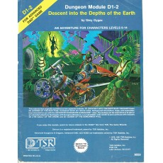 D1-2 Descent into the Dephts of the Earth (jdr AD&D 1ère édition en VO)