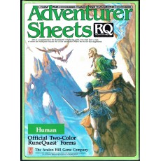 Adventurer Sheets - Human (rpg Runequest 3rd edition en VO)