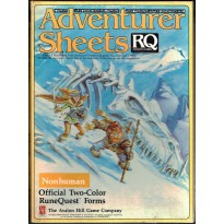 Adventurer Sheets - Non Human (rpg Runequest 3rd edition en VO)