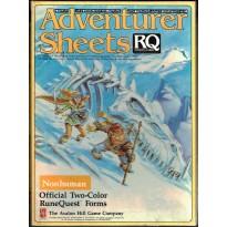 Adventurer Sheets - Non Human (rpg Runequest 3rd edition en VO)