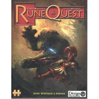 Runequest 6 - Livre de base édition originale (jdr The Design Mechanism en VO) 001
