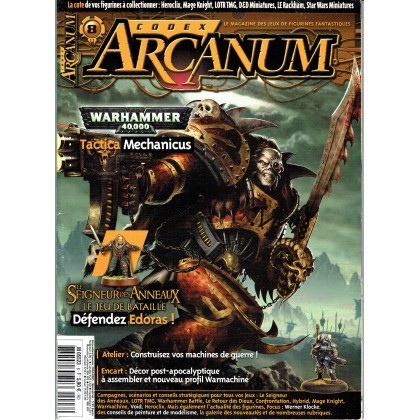 Codex Arcanum N° 8 (magazine des jeux de figurines fantastiques en VF) 002