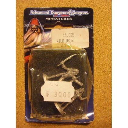 Wild Drow Elves (blister figurines AD&D Miniatures de Ral Partha) 001