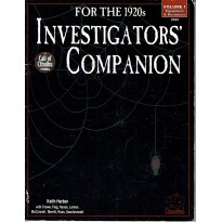 Investigator's Companion for the 1920s - Volume 1 (Rpg Call of Cthulhu en VO)