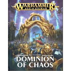 Battletome - Dominion of Chaos (jeu de figurines Age of Sigmar Warhammer en VF)