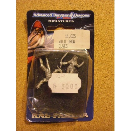 Wild Drow Elves (blister figurines AD&D Miniatures de Ral Partha) 002