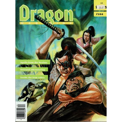 Dragon Magazine N° 164 (magazine de jeux de rôle en VO) 001