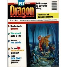 Dragon Magazine N° 193 (magazine de jeux de rôle en VO)