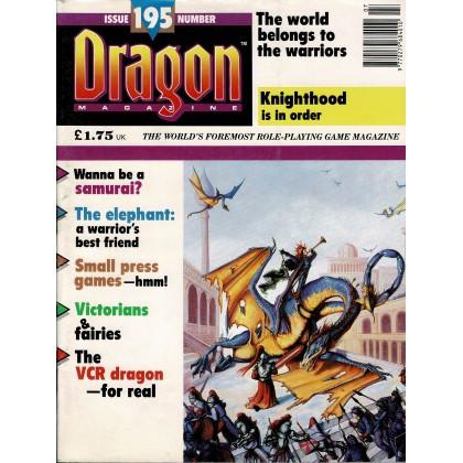 Dragon Magazine N° 195 (magazine de jeux de rôle en VO) 001