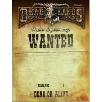 Deadlands Reloaded - Dossier de Personnage (jdr Deuxième édition en VF)