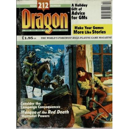 Dragon Magazine N° 212 (magazine de jeux de rôle en VO) 001