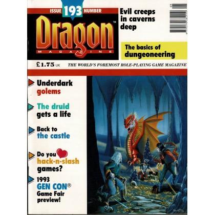 Dragon Magazine N° 193 (magazine de jeux de rôle en VO) 002