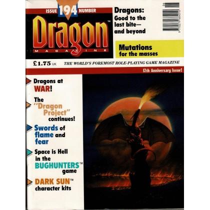 Dragon Magazine N° 194 (magazine de jeux de rôle en VO) 002
