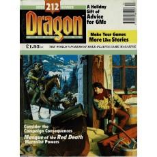 Dragon Magazine N° 212 (magazine de jeux de rôle en VO)