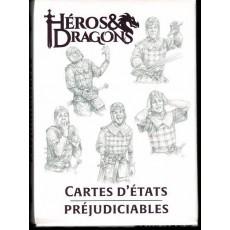 Héros & Dragons - Cartes d'états préjudiciables (jdr de Black Book en VF)