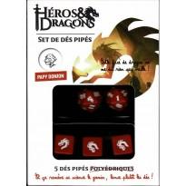 Héros & Dragons - Set de dés pipés de Papy Donjon (jdr de Black Book en VF)
