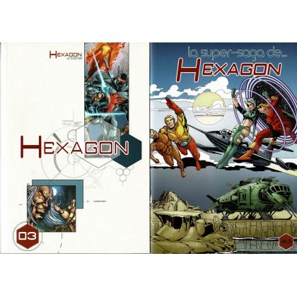 Hexagon Universe - Hexagon 03 + BD tirage limité (jdr XII Singes en VF) 001