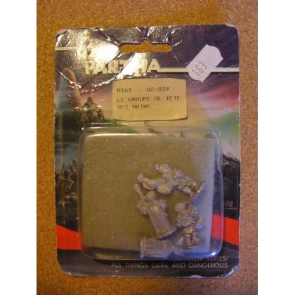 Le groupe de tête des nains (blister de figurines Fantasy Ral Partha) 001
