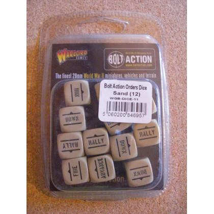 Order Dice (12) - Sand (blister accessoire figurines Bolt Action en VO) 001