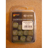 Order Dice (12) - Olive Drab (blister accessoire figurines Bolt Action en VO)