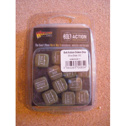 Order Dice (12) - Olive Drab (blister accessoire figurines Bolt Action en VO) 002