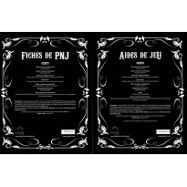 Deadlands Reloaded - Lot d'Aides de Jeu & de Fiches de PNJ (accessoires jdr en VF)