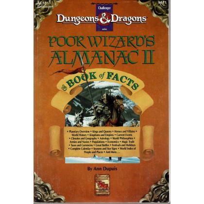 AC1011 Poor Wizard's Almanac II & Book of Facts (jdr D&D 1ère édition en VO) 001