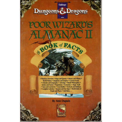AC1011 Poor Wizard's Almanac II & Book of Facts (jdr Mystara - D&D 1ère édition en VO) 001