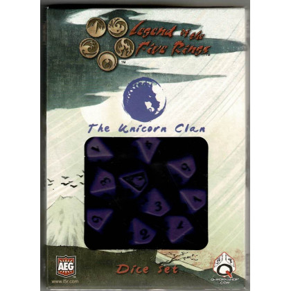 The Unicorn Clan Dice Set (jdr Legend of the Five Rings L5R en VO) 001