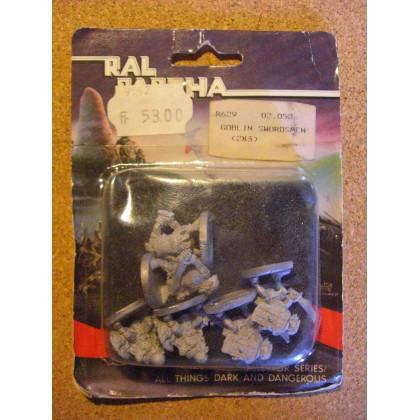 Goblin Swordmen (blister de figurines Fantasy Ral Partha) 001